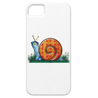 Sly Snail in Garden Grass Case For The iPhone 5