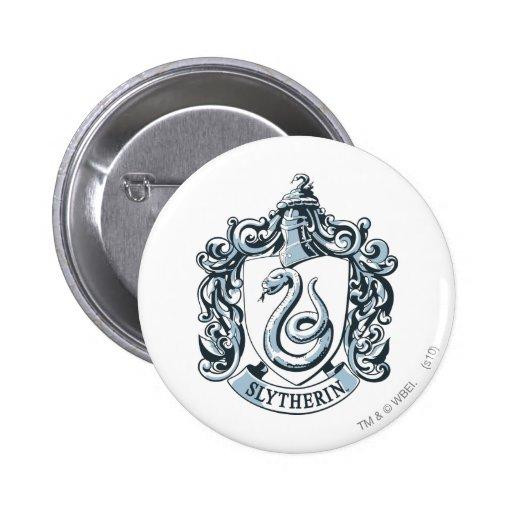 Slytherin Crest Blue 2 Inch Round Button