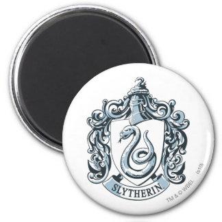 Slytherin Crest Blue 2 Inch Round Magnet