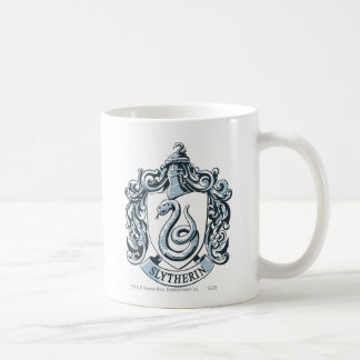 Slytherin Crest Blue Classic White Coffee Mug