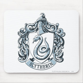 Slytherin Crest Blue Mouse Pad