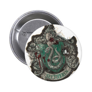 Slytherin Crest - Destroyed 2 Inch Round Button
