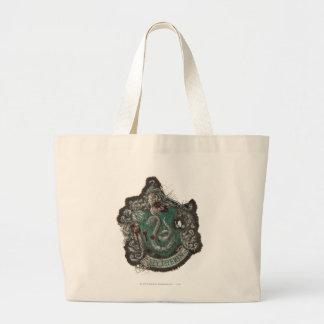 Slytherin Crest - Destroyed Jumbo Tote Bag