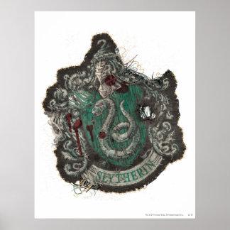 Slytherin Crest - Destroyed Print