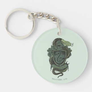 SLYTHERIN™ Crest Double-Sided Round Acrylic Keychain