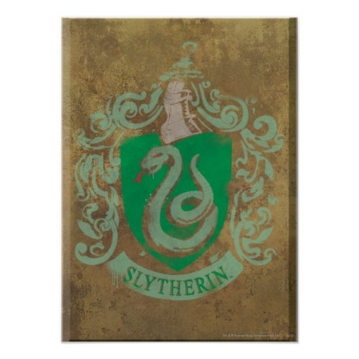 Slytherin Crest HPE6 Posters