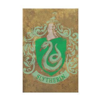 Slytherin House Crest Stretched Canvas Print