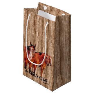 SM Western Barn Wood Girls Club Small Gift Bag