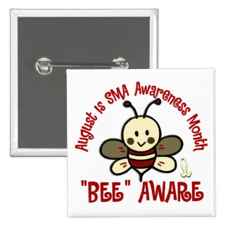 SMA Awareness Month August 4.3 2 Inch Square Button