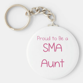 SMA Family - Aunt Basic Round Button Keychain