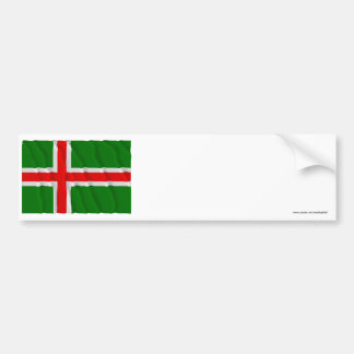Småland waving flag (unofficial) bumper sticker