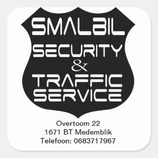 Smalbil Security & Traffic service Square Sticker