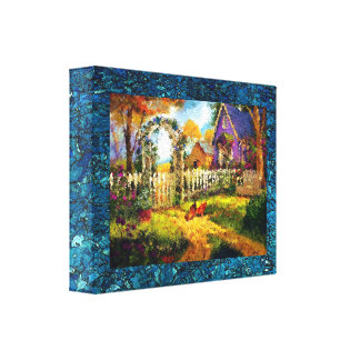 """Small (10.00"""" x 8.00""""), 1.5"""", Single Sweet Home Gallery Wrap Canvas"""