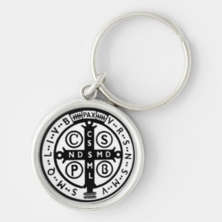 "Small (1.44"") St.Benedict Keychain"
