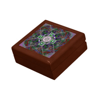"Small 5.125"" Square w/4.25"" Tile Gift Box, Golden Gift Box"