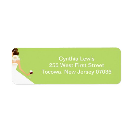 Small address label