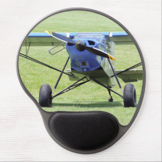 Small Airplane Parked On The Grass Gel Mouse Pad
