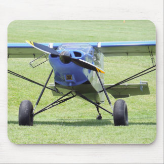 Small Airplane Parked On The Grass Mouse Pad