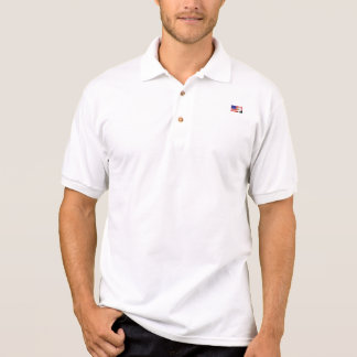 Small American Flag with Eagle Polo Shirt