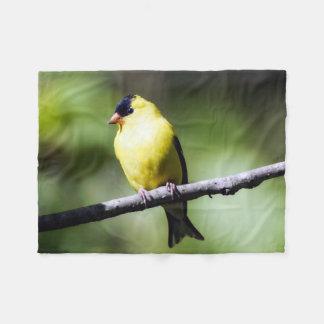Small American Goldfinch Fleece Blanket