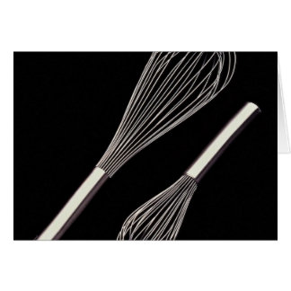 Small and large metal whisk card
