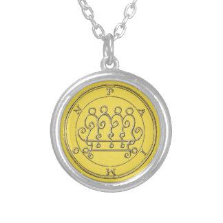 Small Bathed Necklace the Silver Paimon Goétia.