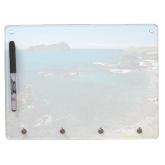 Small bay and islet dry erase board with keychain holder