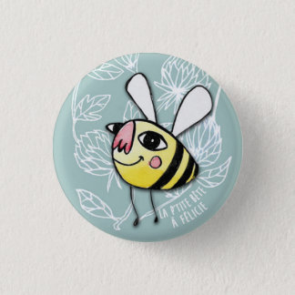 Small Bee - Little Bee Félicie 1 Inch Round Button