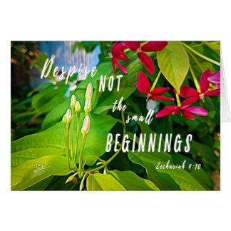 Small Beginnings Inspirational Blank Card