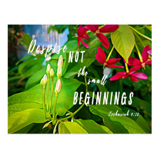 Small Beginnings Inspirational Blank Postcard