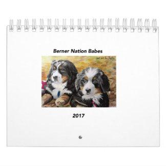 Small Berner Nation Babes 2017 Calender Wall Calendar