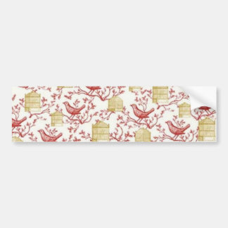 Small birds and Cages Bumper Sticker