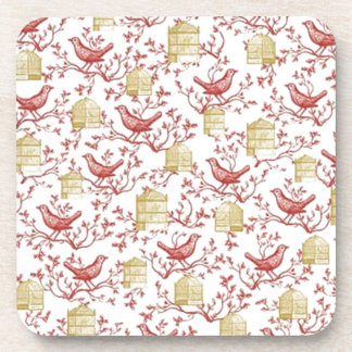 Small birds and Cages Coaster