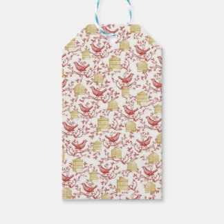 Small birds and Cages Gift Tags