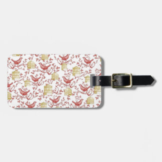 Small birds and Cages Luggage Tag