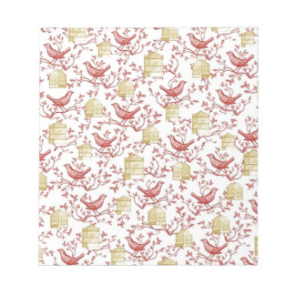 Small birds and Cages Notepad