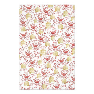 Small birds and Cages Stationery