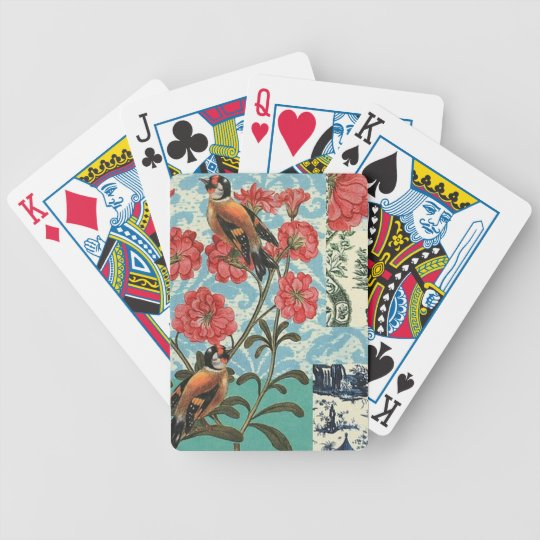 Small birds and flowers - Letters of poker Bicycle Playing Cards