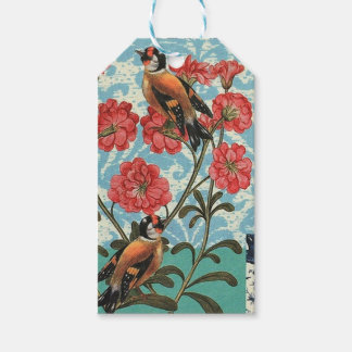 Small birds and flowers pack of gift tags