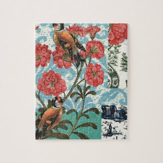 Small birds and flowers puzzle