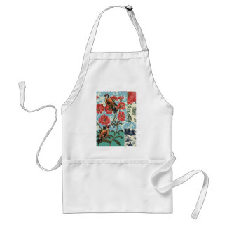 Small birds and flowers standard apron