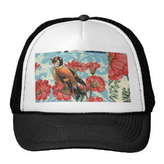 Small birds and flowers trucker hat
