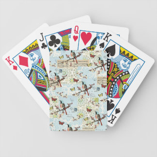 Small birds and music bicycle playing cards