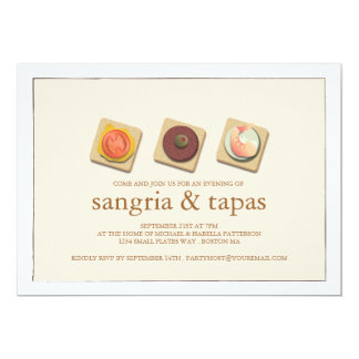 Small Bites Trio Sangria & Tapas Party Invitation