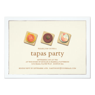 Small Bites Trio Tapas Party Invitation