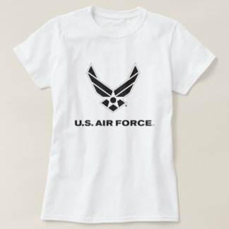 Small Black Air Force Logo with Outline T-Shirt