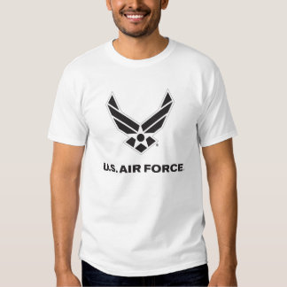 Small Black Air Force Logo with Outline Tshirts