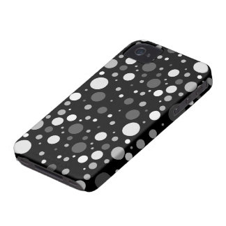 Small Black and White Polka Dots iPhone 4 Case-Mate Cases