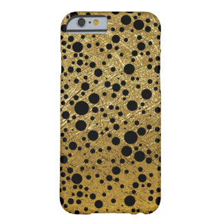 small black dots on golden-color barely there iPhone 6 case