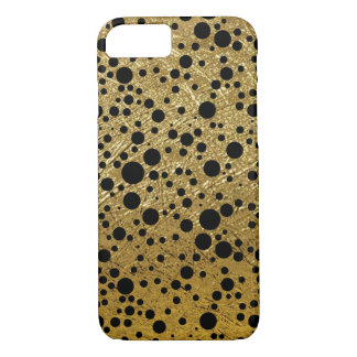 small black dots on golden-color iPhone 7 case